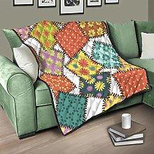 Flowerhome Geometric patchwork quilt, bedspread,