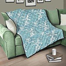 Flowerhome Japanese wave bedspread, quilt,