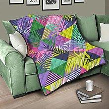 Flowerhome Leaves geometric quilt, bedspread,
