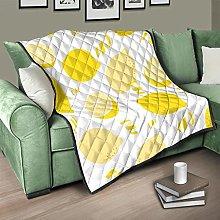 Flowerhome Lemon Bedspread Quilt Bed Throw Sofa