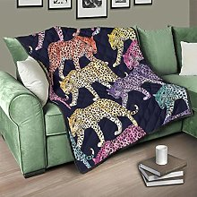 Flowerhome Leopard Quilted Bedspread Bed Throw