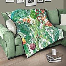 Flowerhome Lizard Cactus Quilted Bedspread Bed