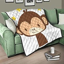 Flowerhome Monkey Star Quilted Bedspread Bed Throw