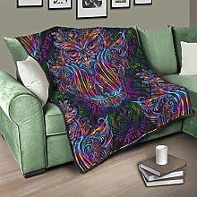 Flowerhome Owl Bedspread Quilt Bed Throw Sofa
