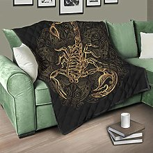 Flowerhome Scorpion Bedspread Quilt Bed Throw Sofa