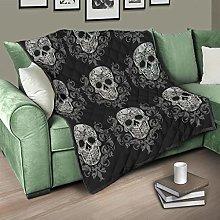 Flowerhome Skull Bedspread Quilt Bed Throw Sofa