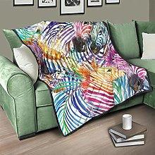Flowerhome Zebra Bedspread Quilt Bed Throw Sofa