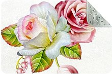 Flowers Door Mat, Machine Washable Soft Doormat
