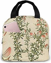 Flowers Pattern Funny Dogs Bull Terrier Lunch Bag