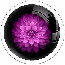 Flowers Plants Drawer Knob Pull Handle Crystal