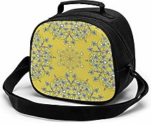 Flowers Yellow Insulated Lunch Bag Mini Cooler
