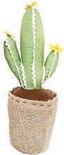 Flowery Fabric Cactus Door Stop (Light Green)