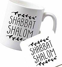 Flox Creative Ceramic Mug and Coaster Set Shabbot