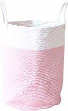 Fltaheroo Cotton Rope Woven Laundry Basket Pompom