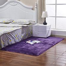 Fluffn Rug Non Slip Floor Carpet Rugs Mat Purple