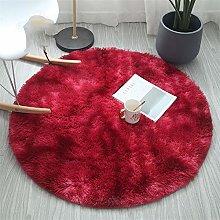 Fluffy Carpet, Modern Gradient Color Fluffy Round
