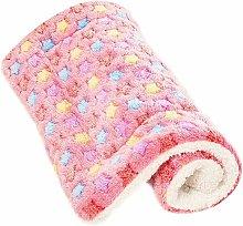 Fluffy Cat Dog Blankets Puppy Cushions Washable Mat Small Medium Large (M, Pink) - Soekavia