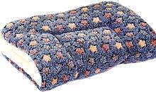 Fluffy Dog Cat Blankets Puppy Cushions Washable Mat Small Medium Large (S, Dark Blue)