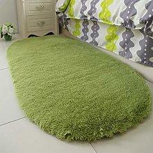 Fluffy Faux Fur Rug Oval Bedside Carpet Super Soft