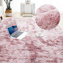 Fluffy Round Rug Carpets For Living Room Decor