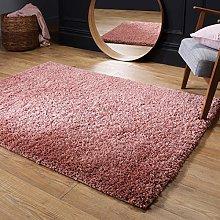 Fluffy Rug Blush Pink Shaggy Carpet for Bedroom