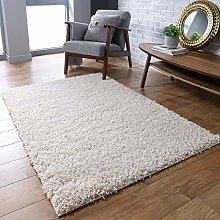 Fluffy Rug Cream Shaggy Carpet for Bedroom Living