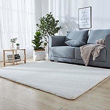 Fluffy Shaggy Super soft Carpet 90 x 120 cm White
