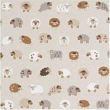 Fluffy Sheep - 1 Fat Quarter (46cm x 48cm) -