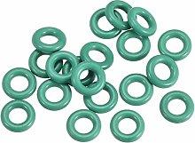 Fluoride Rubber O-Rings, 8mm OD 4mm ID 2mm Wide