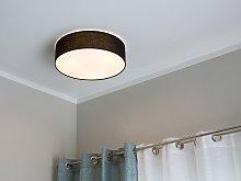 Flush Lamp Black Polycotton ø 45 cm Boho