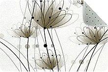 Fluttering Petals Door Mat, Machine Washable Soft