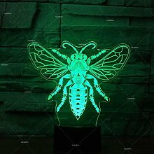 Fly Modeling Multi Color 3D Table Lamp USB Desk