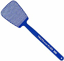 Fly Swatter,Blue Plastic Long Handle Manual Swat