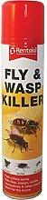 FLY & WASP KILLER AEROSOL SPRAY BY RENTOKIL. 300ml