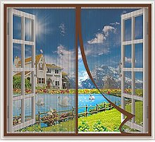Fly Window Screen Mesh 100x120cm Magnetic Fly
