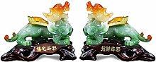 FLYAND 2Pcs Sculpture Figurines Ornaments a Pair