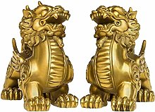 FLYAND A Pair Of Sculpture Figurines Copper P