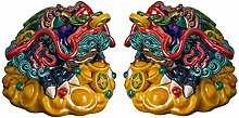 FLYAND A Pair Of Sculpture Figurines Golden Toad