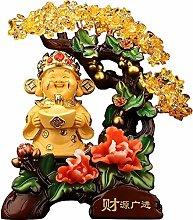FLYAND CAI Shen Money Tree Crystal Art Decoration