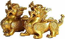 FLYAND Sculpture Figurines Chinese-style Copper