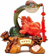 FLYAND Sculpture Figurines Creative Golden Toad