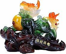 FLYAND Sculpture Figurines Decoration Feng Shui