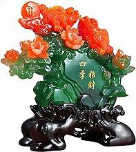 FLYAND Sculpture Figurines Four Seasons Auspicious