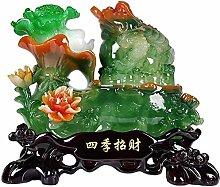 FLYAND Sculpture Figurines Lucky Golden Toad