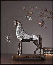 FLYAND Sculpture Figurines Resin Standing Horse
