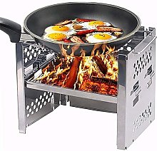 FLYAND Stainless Steel Wood Burning Camping Grills