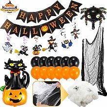 Flyfun Halloween Decoration Spiderweb,White