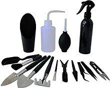 flygogo 15PCS/set Black Mini Garden Hand Tools