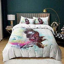 Flying Animal Owl Eagle Birds Pattern Bedding Set,