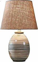 FLZ Creative Ceramic Desk Lamp for Bedroom, Warm
